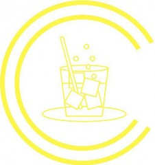 Cocktail Class Logo - Yellow